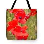 Poppies Vi Tote Bag