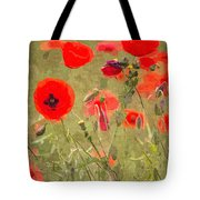 Poppies X Tote Bag