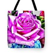 Poppin Purple Rose Tote Bag