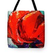 Poppy 3 Tote Bag by Vickie Warner