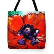 Poppy 4 Tote Bag by Vickie Warner