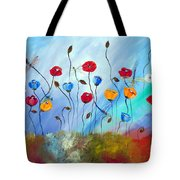 Poppy And Dragonfly Tote Bag