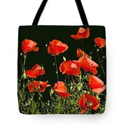 Poppy Art Tote Bag