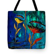 Poppy At Night Abstract 1 Tote Bag