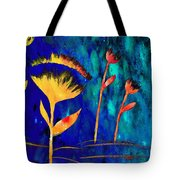 Poppy At Night Abstract 3  Tote Bag