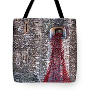 Poppy Cascade Tote Bag