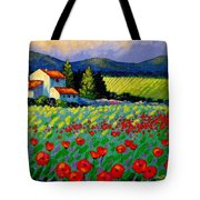 Poppy Field - Provence Tote Bag