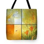 Poppy Pollination Tote Bag