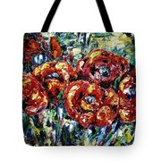 Poppy Red Flowers Tote Bag