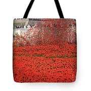 Poppy Tribute Of The Century. Tote Bag
