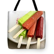 Popsicles Ice Cream Frozen Treat Tote Bag by Edward Fielding