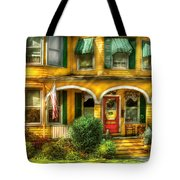 Porch - Cranford Nj - A Yellow Classic  Tote Bag