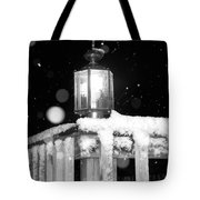 Porch Light Bw Tote Bag