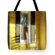 Porch - Long Afternoon Shadow Of Rocking Chair Tote Bag