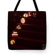 Porch Pumpkins Tote Bag