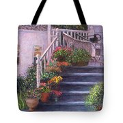 Porch With Watering Cans Tote Bag
