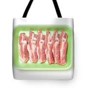 Pork Ribs In Foam Tray Tote Bag
