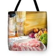 Pork Ribs With Vegetable Tote Bag