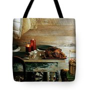 Pork With Candles Tote Bag