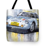 Porsche 550 Coupe 154 Carrera Panamericana 1953 Tote Bag by Yuriy  Shevchuk