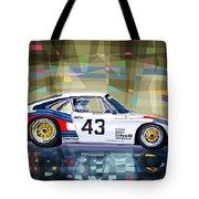 Porsche 935 Coupe Moby Dick Tote Bag by Yuriy  Shevchuk