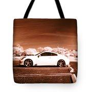 Porsche Car Side Profile Brown Near Infrared  Tote Bag