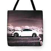Porsche Car Side Profile Pink Near Infrared Tote Bag