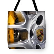 Porsche Wheel Tote Bag