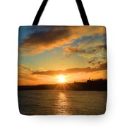 Port Angeles Sunburst Tote Bag