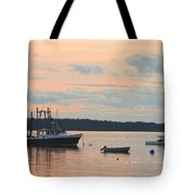 Port Clyde Maine Fishing Boats At Sunset Tote Bag