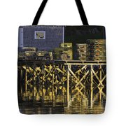 Port Clyde Pier On The Coast Of Maine Tote Bag