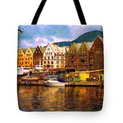 Port Life Watercolor Tote Bag