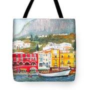 Port Of Capri Tote Bag