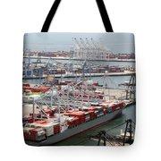 Port Of Long Beach Tote Bag