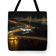 Port Of Miami Macarthur Causeway Tote Bag
