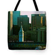 Port Of San Francisco Tote Bag