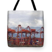 Port Of Vancouver Bc Cranes And Containers Tote Bag