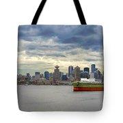 Port Of Vancouver Bc Panorama Tote Bag