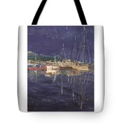 Stary  Port Orchard Night Tote Bag