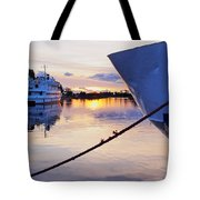 Port Sunrise Tote Bag