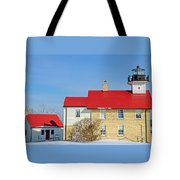 Port Washington Light Station  Tote Bag