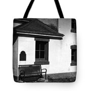 Port Wilson Lighthouse Bench Bw Tote Bag
