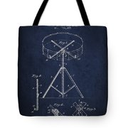 Portable Drum Patent Drawing From 1903 - Blue Tote Bag