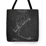 Portable Hair Dryer Patent From 1968 - Charcoal Tote Bag