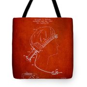 Portable Hair Dryer Patent From 1968 - Red Tote Bag