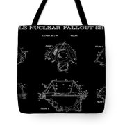Portable Nuclear Fallout Shelters 2 Patent Art 1986 Tote Bag