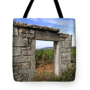 Portal Of Vineyard In Burgundy Near Beaune. Cote D'or. France. Europe Tote Bag