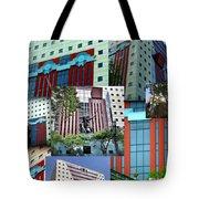 Portland Building Collage Tote Bag