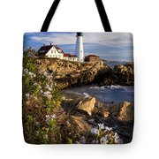 Portland Head Light Tote Bag by Brian Jannsen