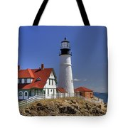 Portland Head Light Tote Bag by Joann Vitali